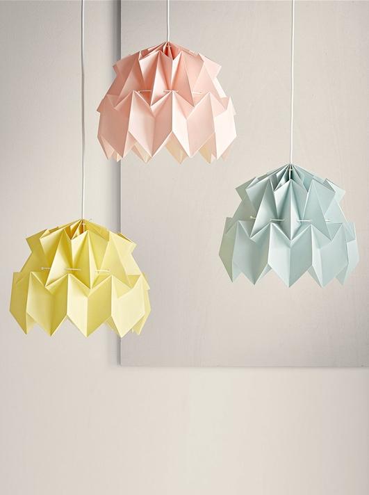 lampes papier origami cyrillus