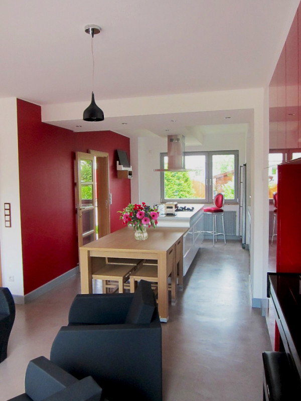 cuisine blanche et rouge luxembourg