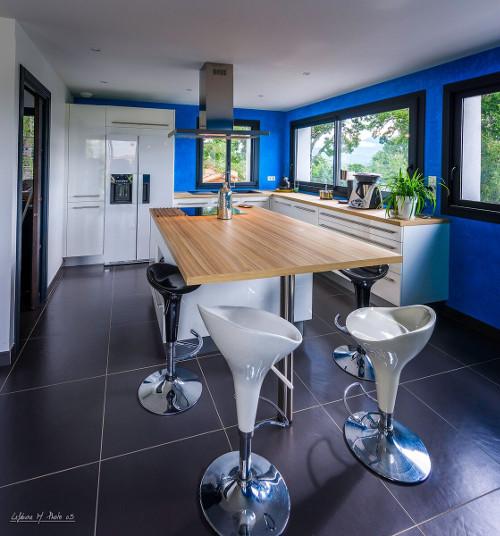 cuisine mur bleu gap
