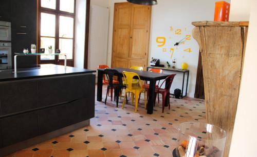 chaise cuisine jaune laval