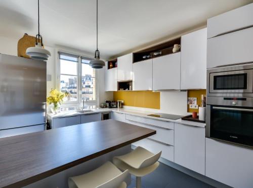 cuisine jaune blanche paris 17