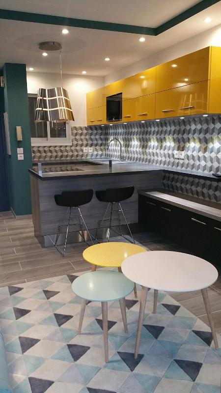 meubles de cuisines jaune nice