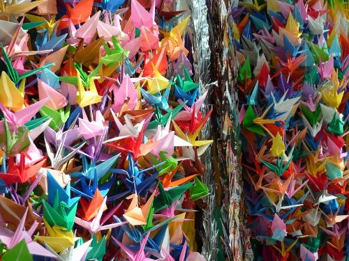 grues origami japon