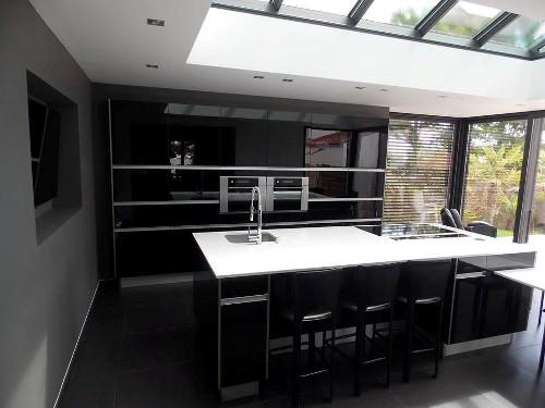 cuisine noire veranda sables olonne