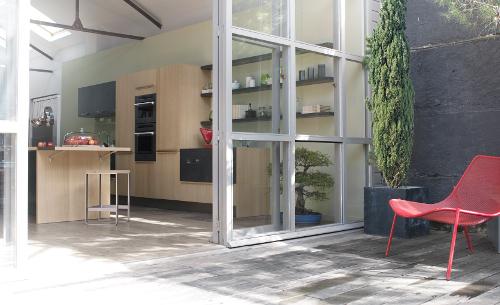 cuisine ouverte jardin metisse
