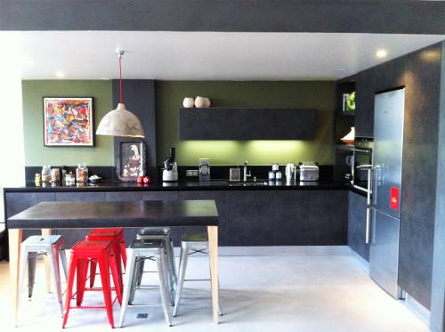 cuisine loft sol beton cire